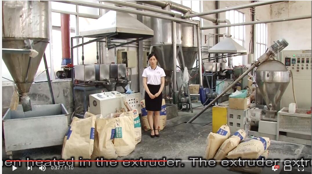 PVC graining production line