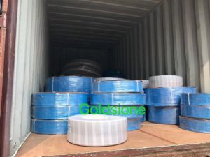 pvc layflat hose in container
