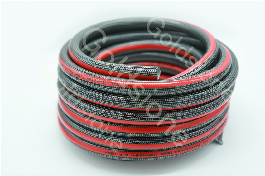 Anti-kink PVC garden hose